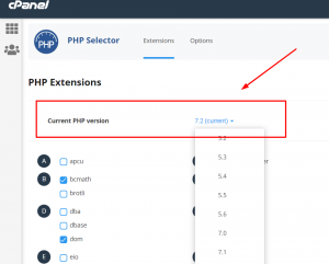 Cara mengatasi http error 500 dengan mengganti versi PHP di cPanel