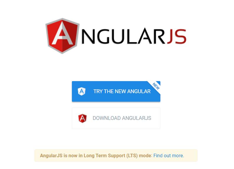 halaman utama website angularjs