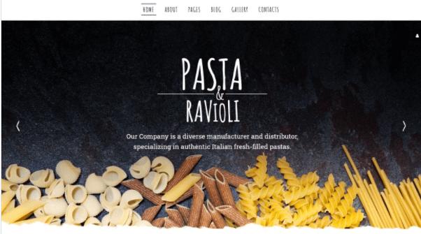 Template Joomla Pasta Ravioli