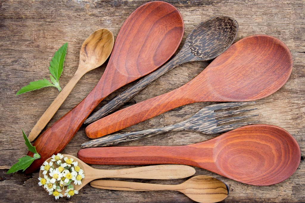 ilustrasi wooden kitchen set