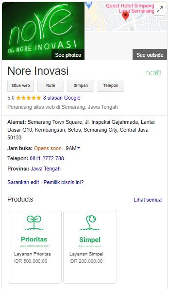 Google Bisnisku Nore Inovasi