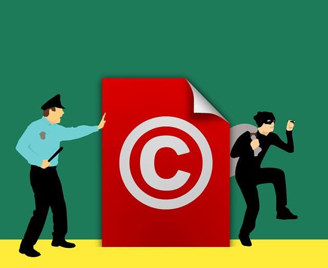 ilustrasi cara kerja copyright