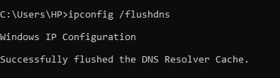 Hapus Cache DNS