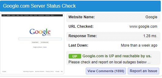 mengecek status server