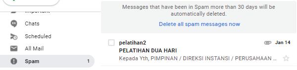 Kenapa email masuk spam karena konten email terjaring filter spam