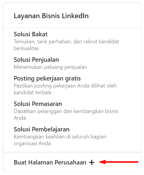 cara membuat company page LinkedIn
