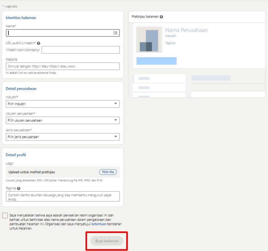 identitas company page sebagai syarat wajib sebelum LinkedIn Ads
