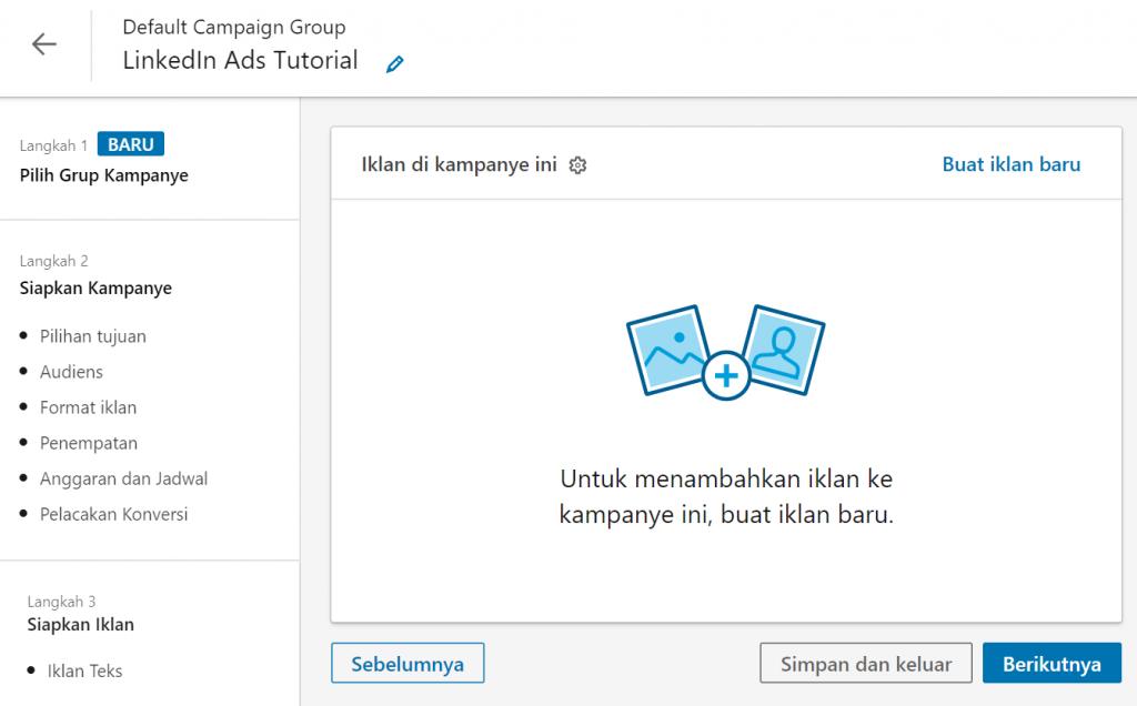 cara upload konten iklan di LinkedIn Ads
