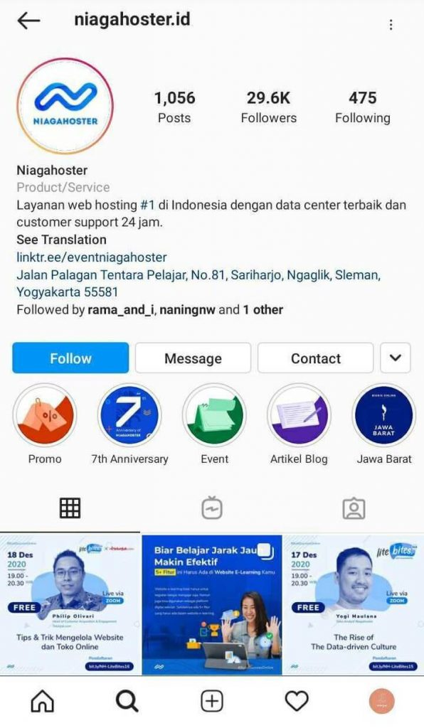gunakan instagram bisnis untuk konten IGTV