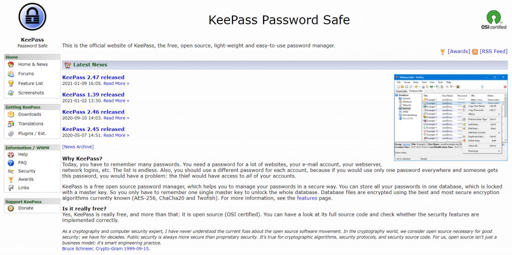KeePass sebagai salah satu password manager gratis terbaik