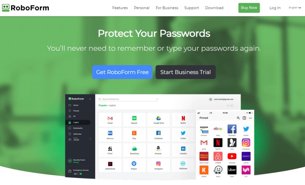 RoboForm sebagai salah satu password manager terbaik