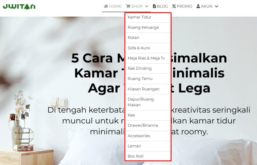 Kategori produk Uwitan
