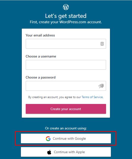 Melakukan login ke WordPress.com