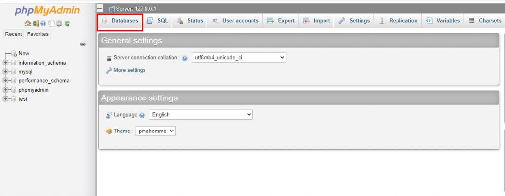 Cara hosting WordPress gratis dengan pengaturan phpMyAdmin