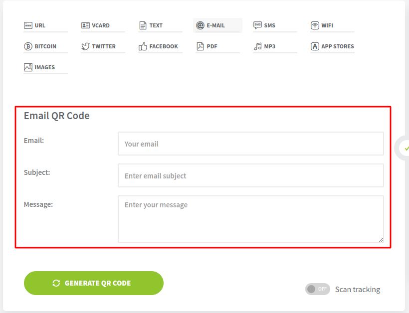 Contoh cara memasukkan data email