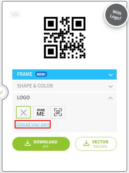 menggunakan logo brand bisnis sebagai cara membuat qr code