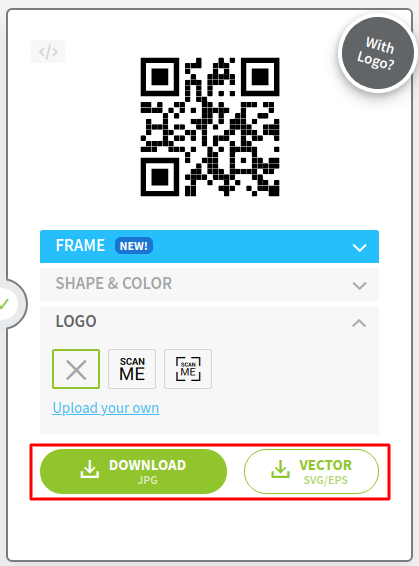 mendownload qr code untuk digunakan mempromosikan produk bisnis