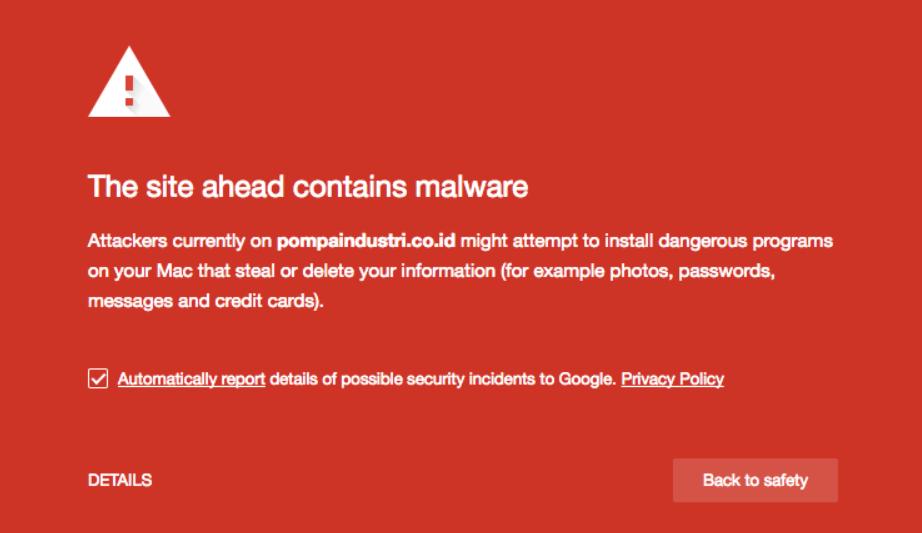 contoh blacklist malware