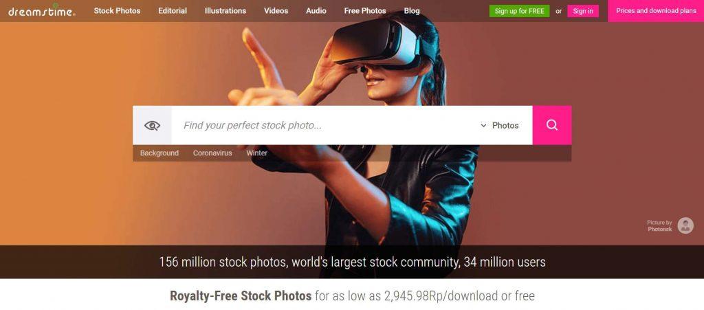 dreamstime platform jual foto online