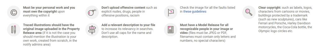 kriteria dan syarat konten kontributor dreamstime