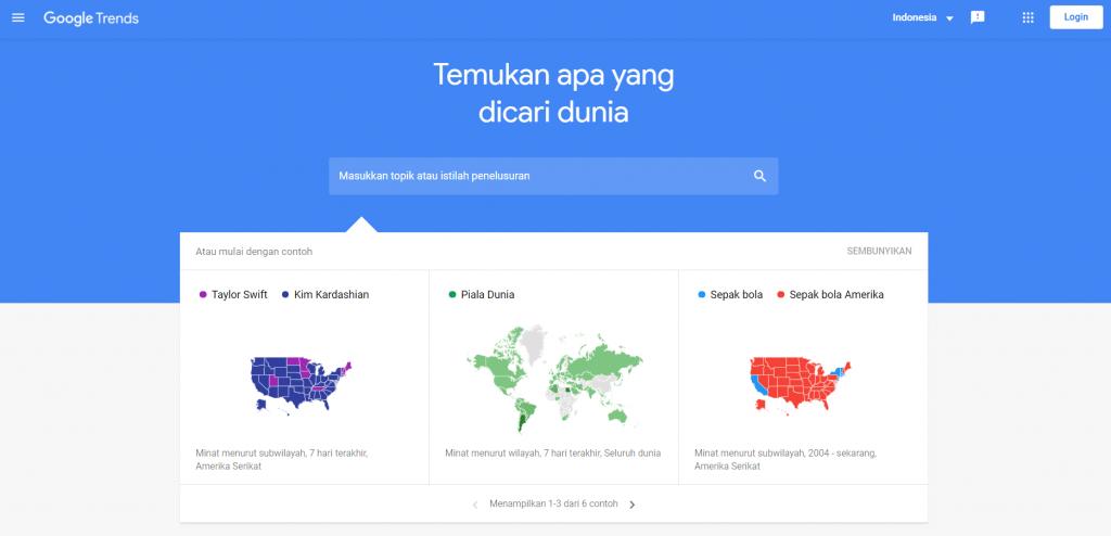 google trends untuk riset stok foto