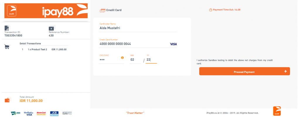tampilan checkout payment gateway ipay88