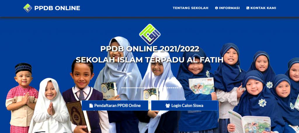 Pendaftaran online via website