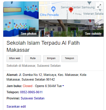 Google Bisnisku SIT Al Fatih