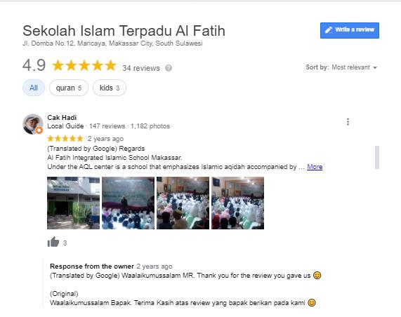 Review dan rating SIT Al Fatih