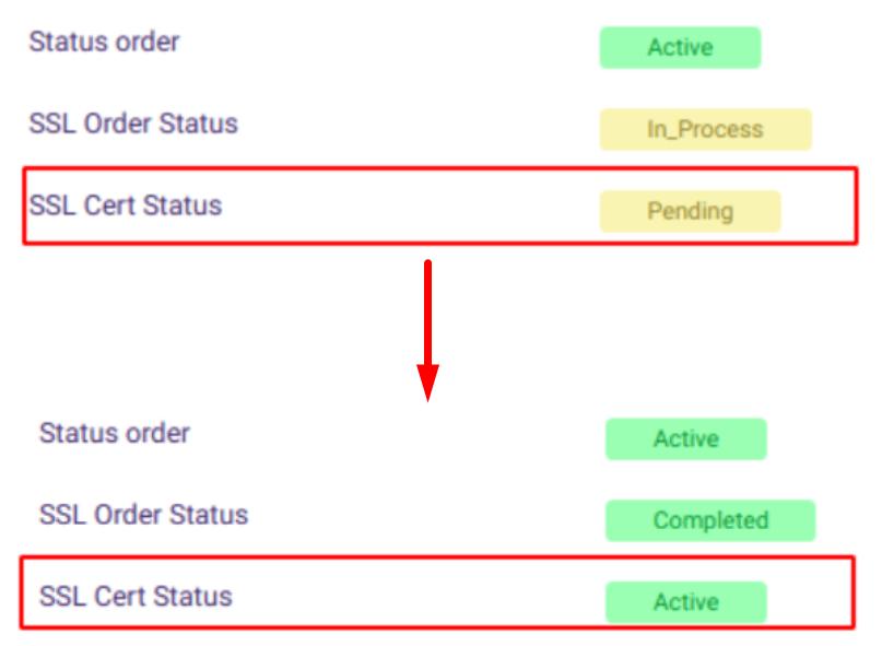notifikasi comodo ssl aktif di member area