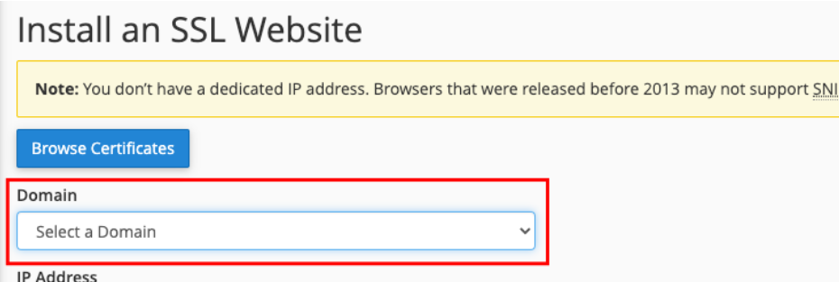 instal comodo ssl di website