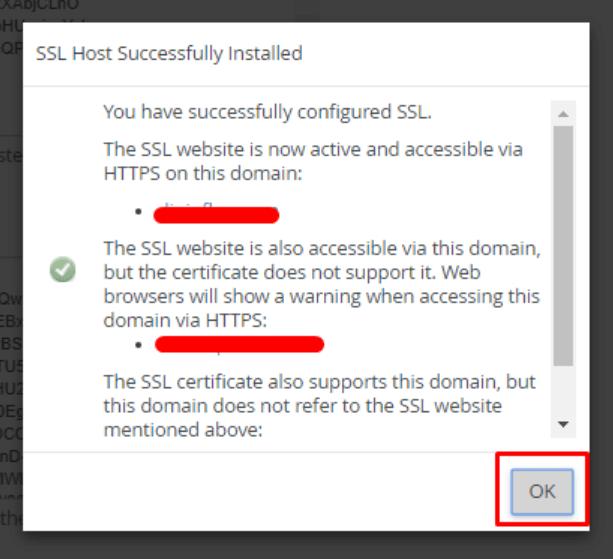 notifikasi comodo ssl telah aktif