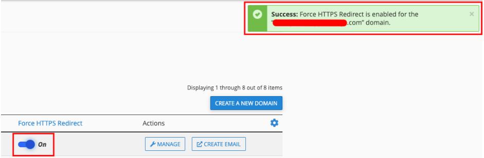 notifikasi force https website berhasil