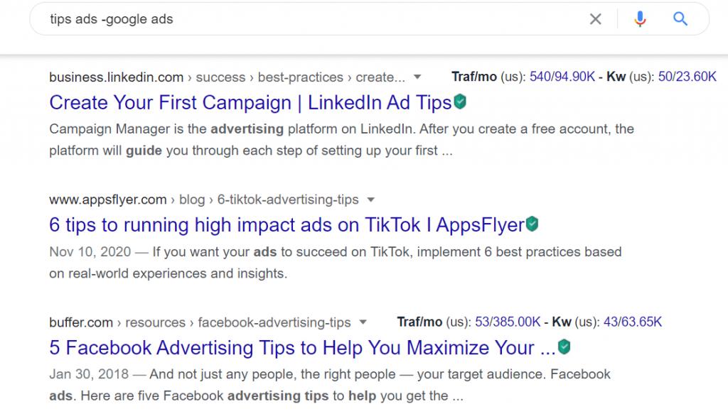 Trik rahasia menggunakan Google Search dengan mengecualikan informasi tertentu