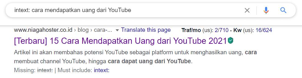 Mencari artikel dengan keyword tertentu di text dengan trik rahasia Google Search