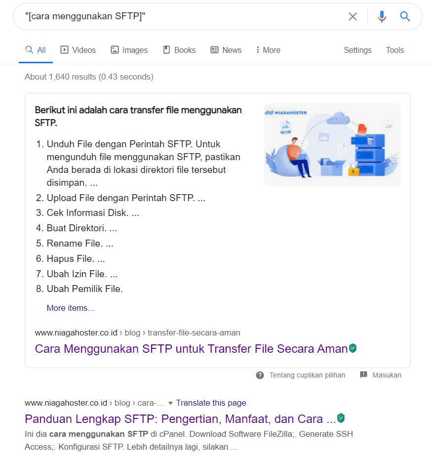 Mencari konten yang mirip dengan Google Search