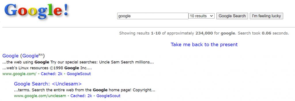 Kembali ke tahun 1998 dengan trik rahasia Google Search