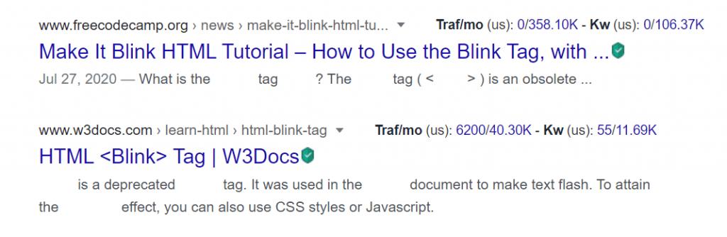 Trik Blink HTML di Google