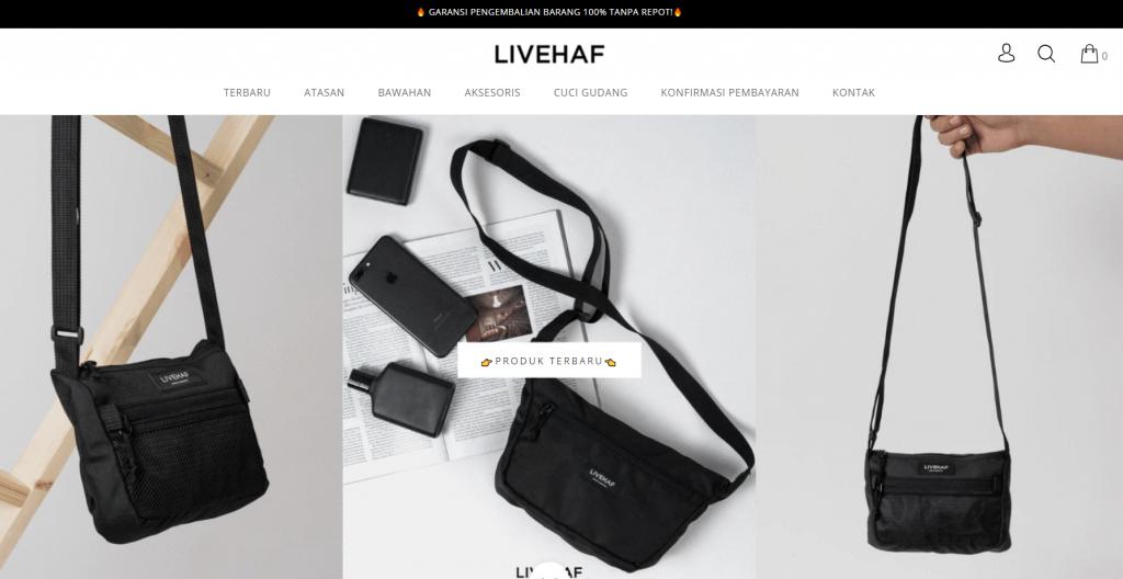 halaman utama livehaf