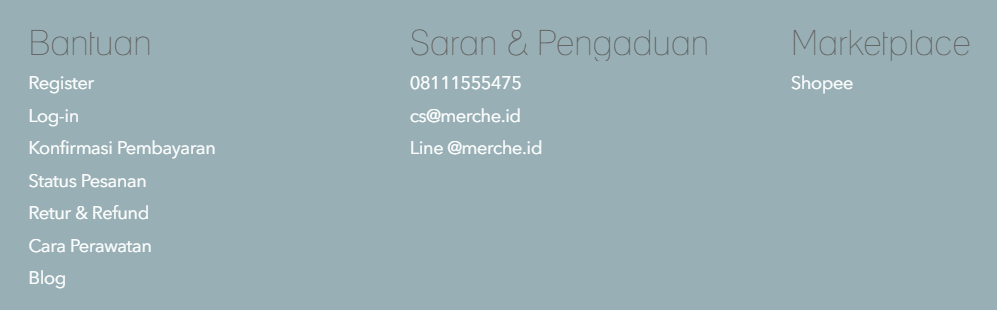 footer merche berisi link marketplace