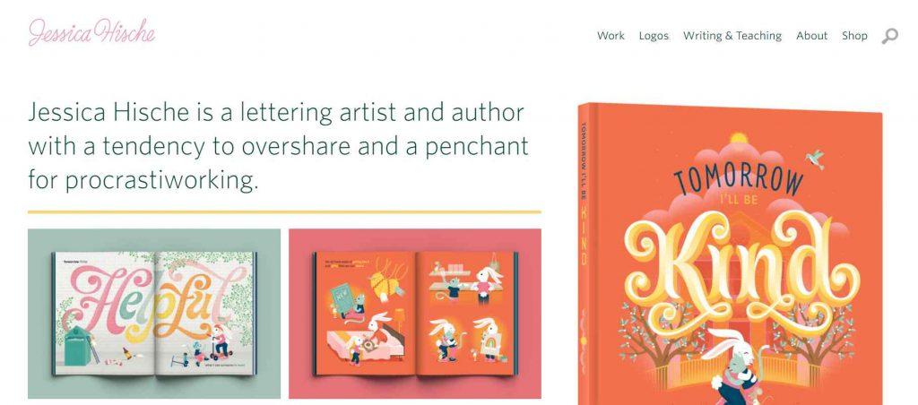 fitur lengkap website portofolio desain grafis