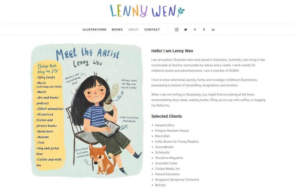 contoh halaman about me desainer yang kreatif