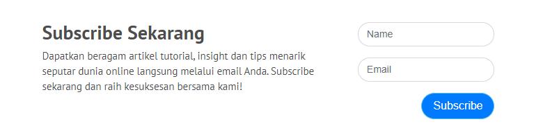 formulir mailing list Niagahoster