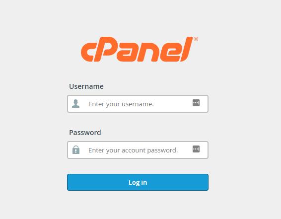 laman login cPanel