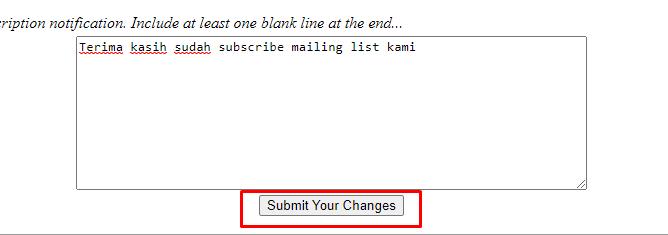 pesan untuk member mailing list
