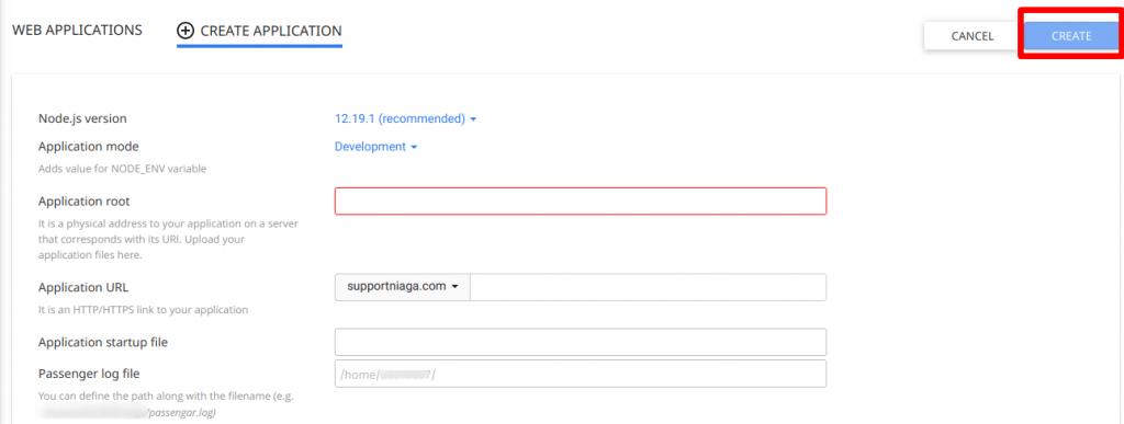 Konfigurasi Aplikasi Node.js