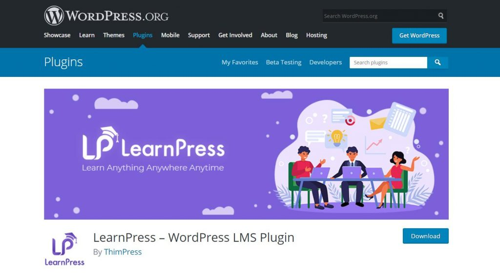 LearnPress LMS plugin