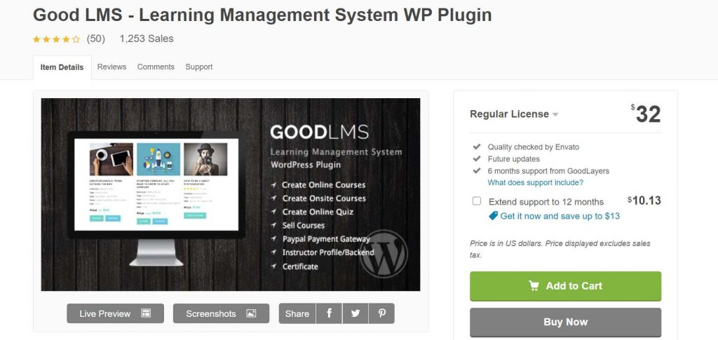 Good LMS Plugin WordPress
