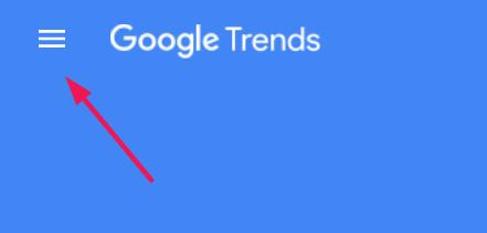 Sidenav untuk mencari trending search
