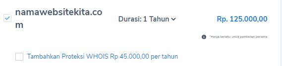 Harga domain .COM lebih mahal